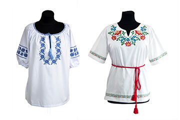 Women's blouses with embroidery