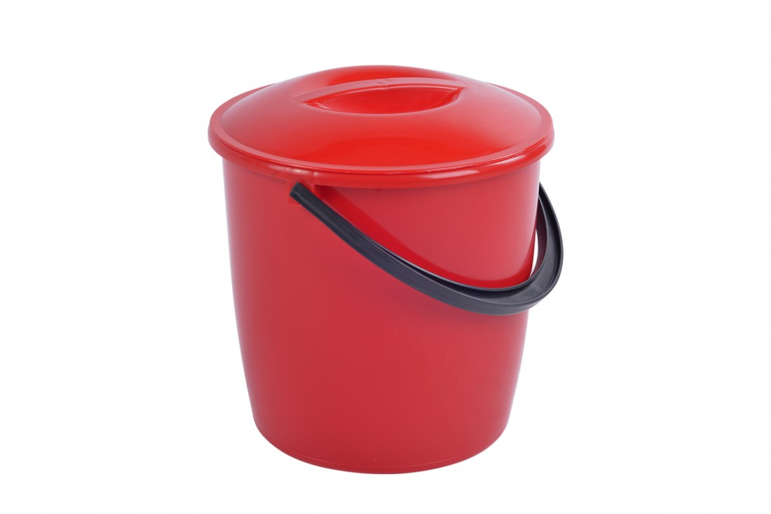 Bucket with lid, 8L