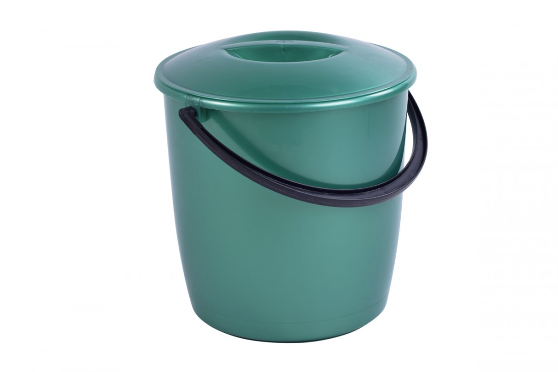 Bucket with lid, 12L modern