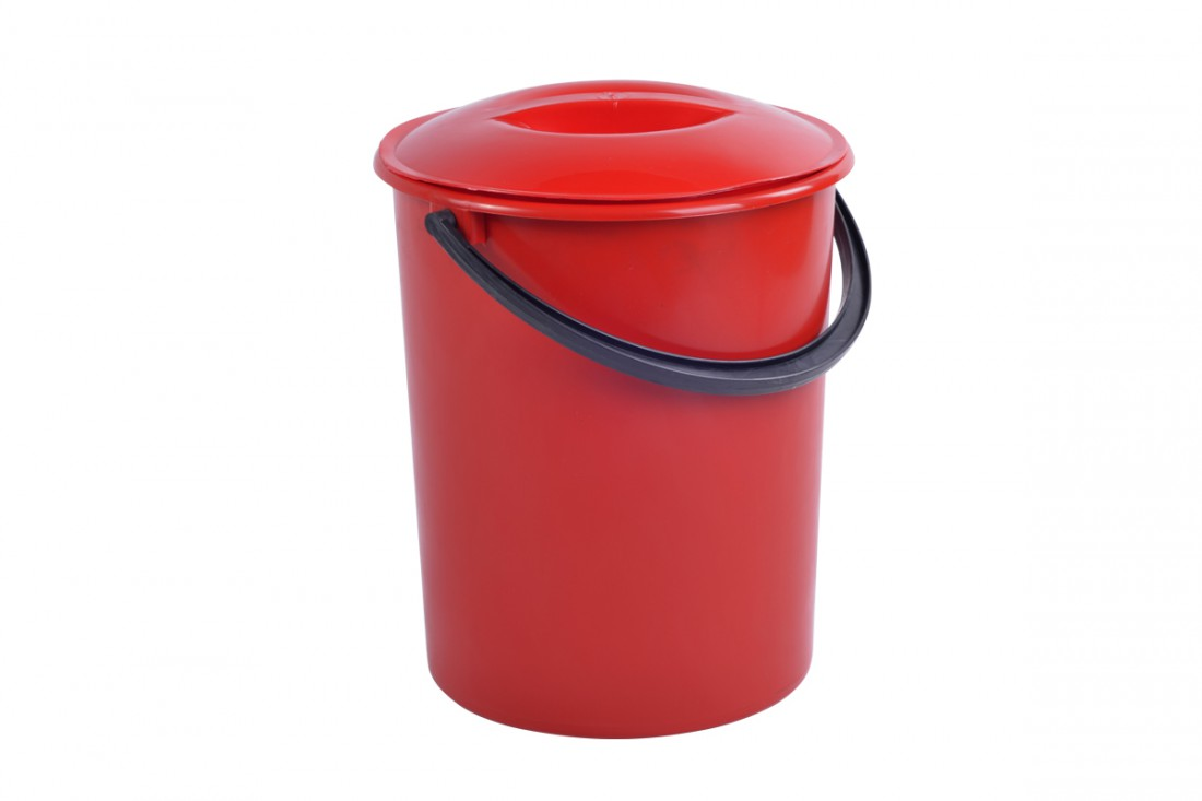 Bucket with lid, 13L